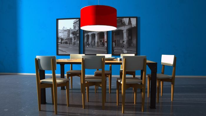 Blue Dining Room Walls