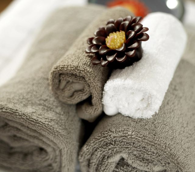 Plush Towels and a Candle