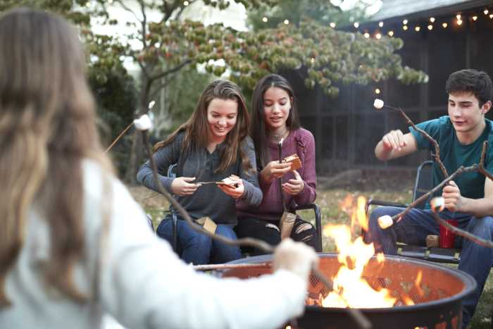 Roasting Marshmallows Around the Fire Pit